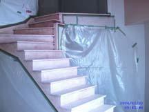 Escalier pret à teindre.